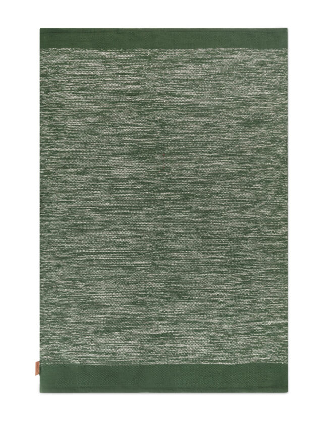 Melange rug Green